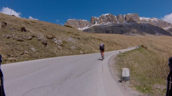 Indoor cycling training video of Passo Pordoi