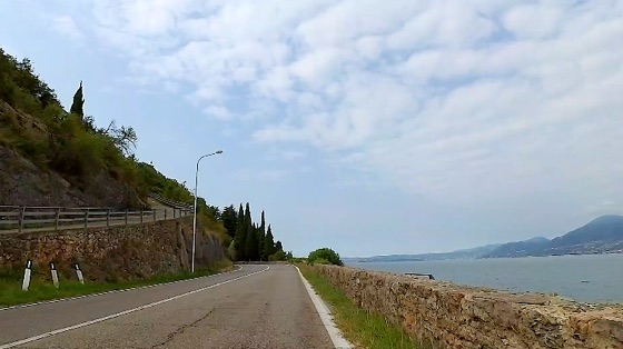 Indoor cycling training video of Castelletto to Garda, Lake Garda