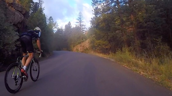 Indoor cycling training video of Cheyenne Canyon, Colorado Springs