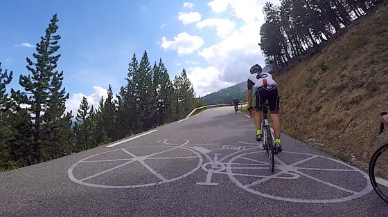 Indoor cycling training video of Col d'Izoard