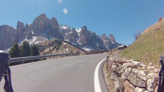 Indoor cycling training video of Passo Gardena