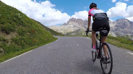 Indoor cycling training video of Col du Galibier from Col du Lautaret