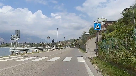 Indoor cycling training video of Malcesine and Via Panoramica, Lake Garda