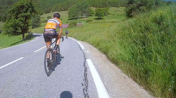 Indoor cycling training video of Alpe d'Huez - Summertime