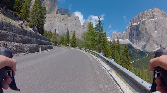 Indoor cycling training video of Passo Sella