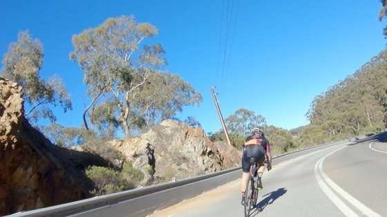 Indoor cycling training video of Adelaide Gorge Revisited