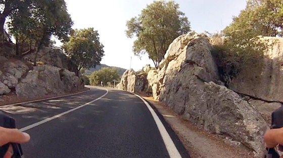 Indoor cycling training video of Coll de Femenia to Lluc