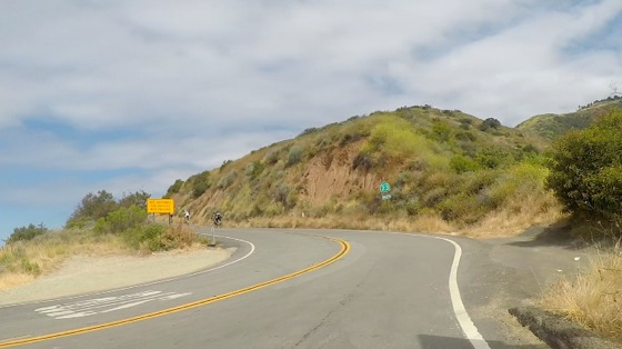 Indoor cycling training video of Santa Monica Mtns -  Decker Rd South