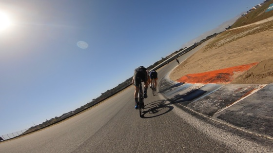 Indoor cycling training video of Laguna Seca Circuit Race