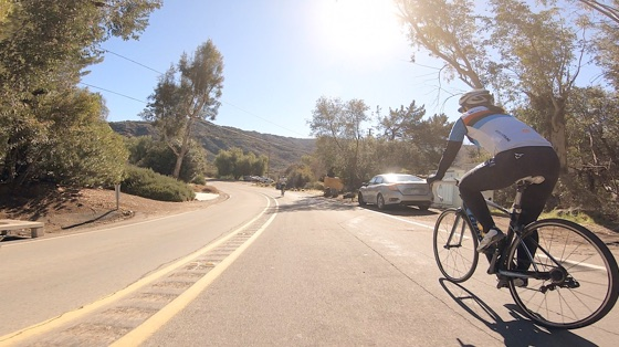 Indoor cycling training video of Santa Monica Mtns - Stunt Road (Saddle Peak North)